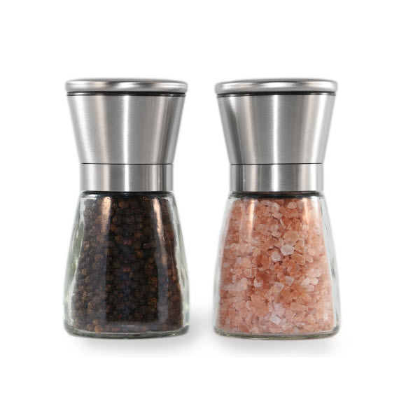Stainless Steel Salt and Pepper Grinder Set